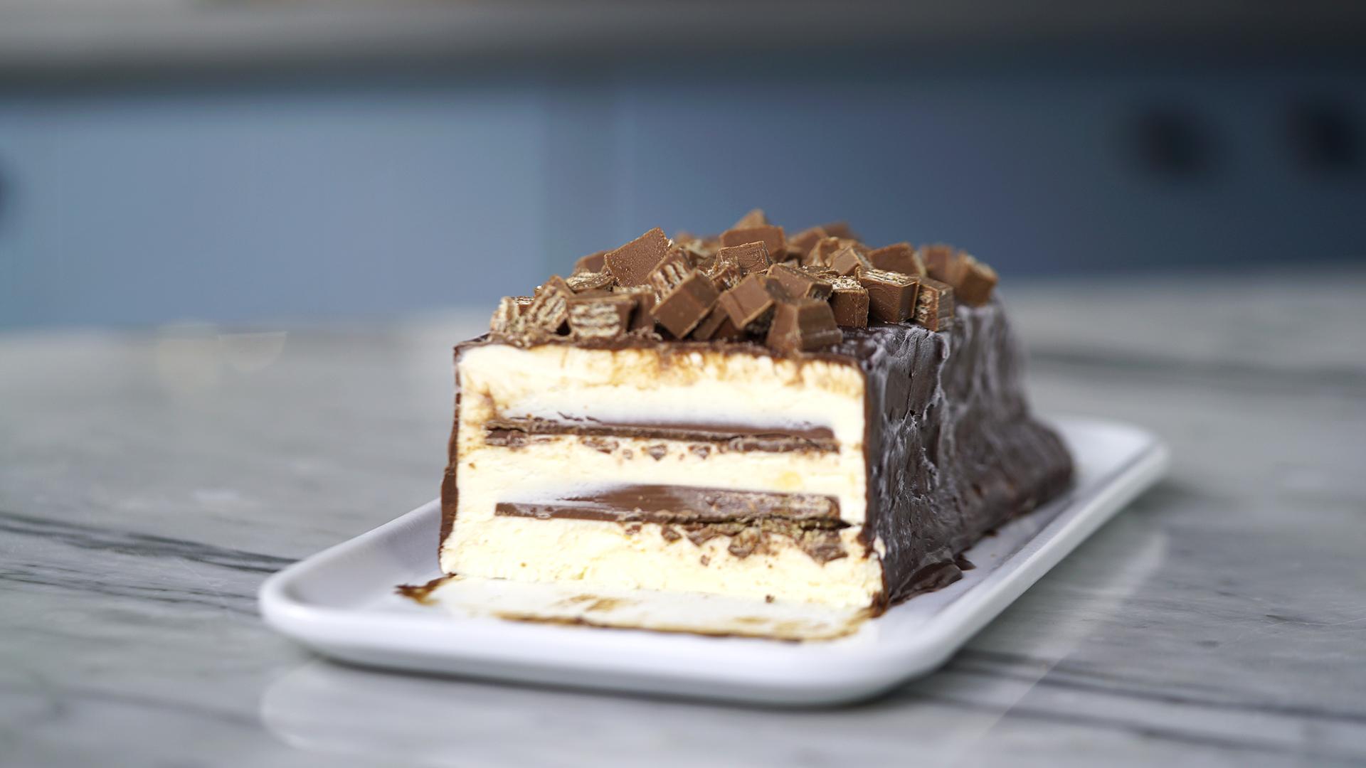 Torta de Picolé Kit Kat