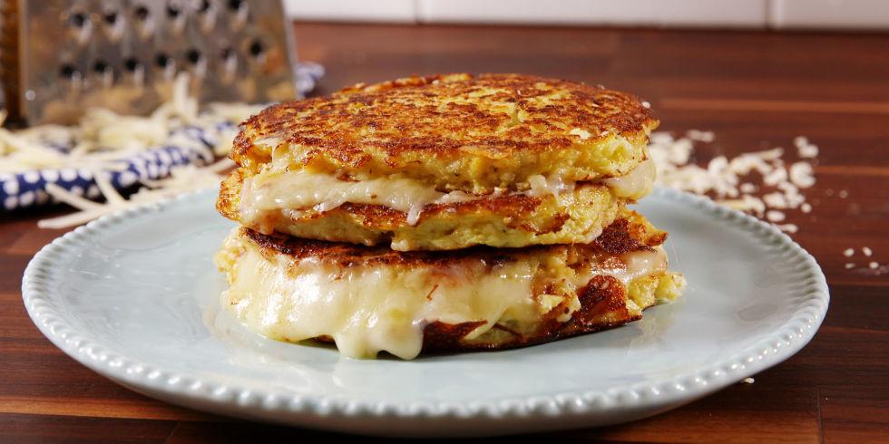 Tostas de couve-flor com queijo
