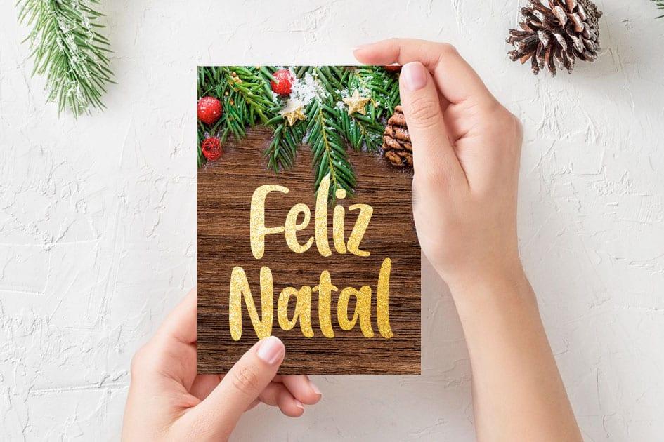 Artesanato de Natal: cartão de Natal